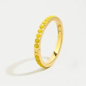 NWT J.Crew Mini Gumdrop Stone Hinge Bracelet Honey